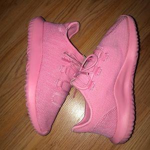 Girls pink adidas